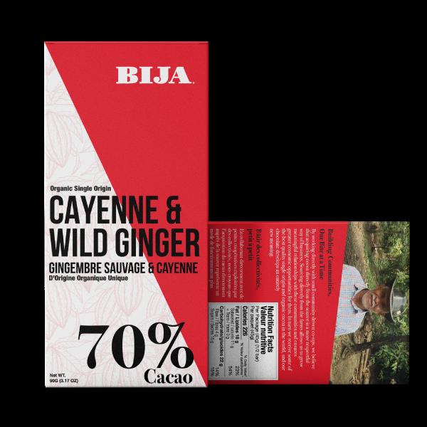 cayenne organic chocolate bar
